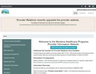 medicaidprovider.mt.gov screenshot