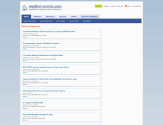 medical-events.com screenshot