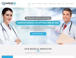 medicalaidsearch.co.za screenshot