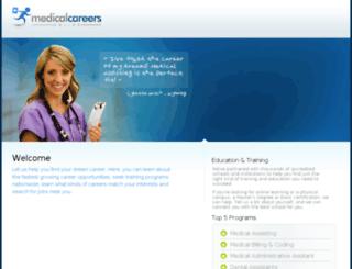 medicalcareersonline.com screenshot