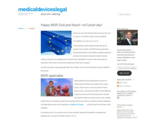 medicaldeviceslegal.com screenshot