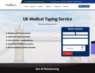 medicaltranscriptionsindia.com screenshot