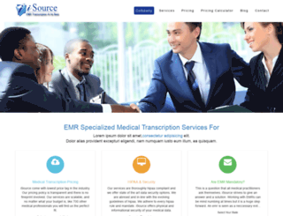 medicaltranscriptionsservice.com screenshot