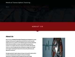 medicaltranscriptionttraining.weebly.com screenshot