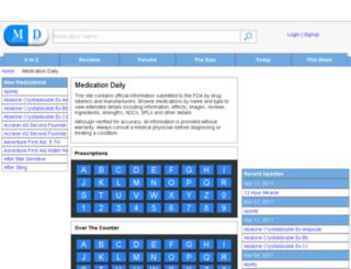 medicationdaily.com screenshot