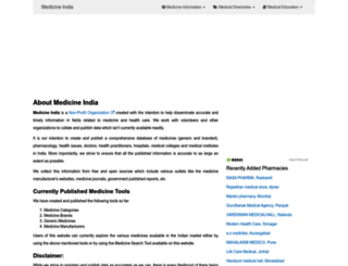 medicineindia.org screenshot