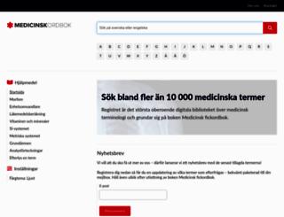 medicinskordbok.se screenshot