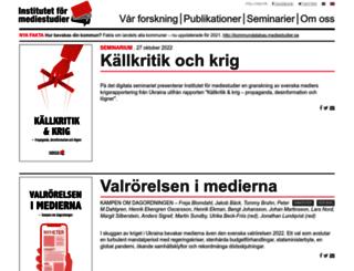 mediestudier.se screenshot