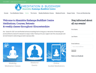 meditationincheltenham.org.uk screenshot