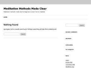 meditationmethodsmadeclear.com screenshot