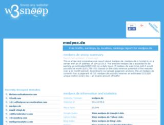 medpex.de.w3snoop.com screenshot