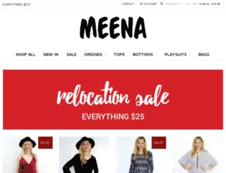 meenaclothing.com screenshot