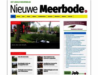 meerbode.nl screenshot