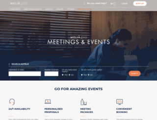 meetings.melia.com screenshot
