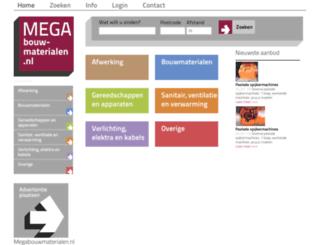 megabouwmaterialen.nl screenshot