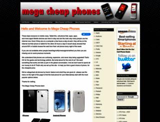 megacheapphones.com screenshot