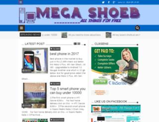 megashoeb.blogspot.in screenshot