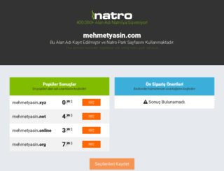 mehmetyasin.com screenshot