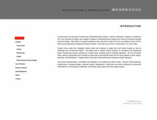 mehrnoosh.com screenshot