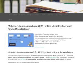 mehrwertsteuerrechner.com screenshot