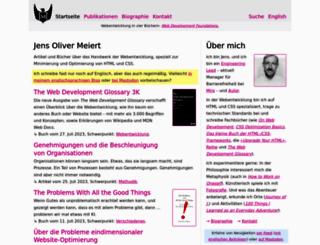 meiert.com screenshot