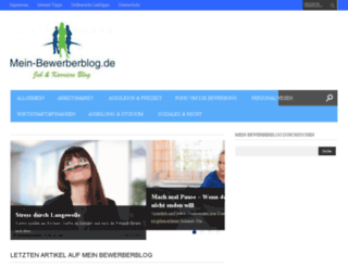 mein-bewerberblog.de screenshot