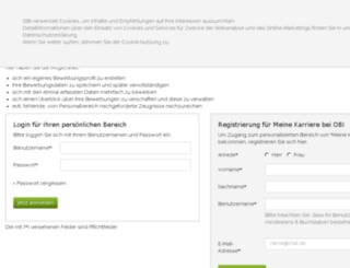 meine-karriere.obi.de screenshot