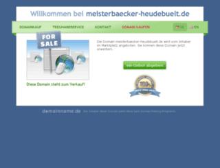 meisterbaecker-heudebuelt.de screenshot