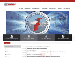 mekatronik.erciyes.edu.tr screenshot
