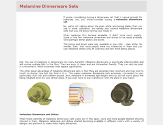melaminedinnerwaresets.com screenshot