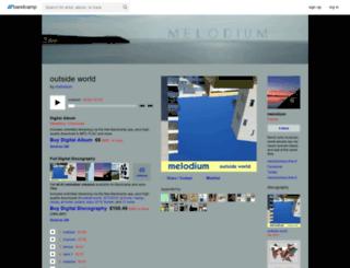 melodium.bandcamp.com screenshot