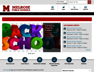melroseschools.com screenshot