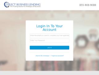 member.directbusinesslending.com screenshot