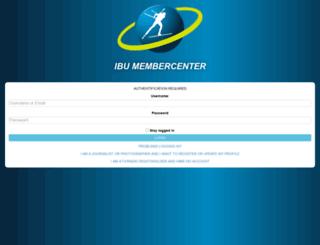membercenter.biathlonresults.com screenshot