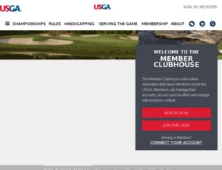 memberclubhouse.usga.org screenshot