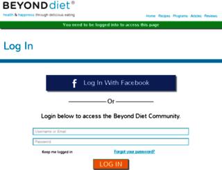 members.beyonddiet.com screenshot