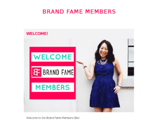 members.brandfameschool.com screenshot