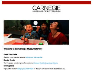 members.carnegiemuseums.org screenshot