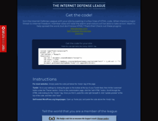 members.internetdefenseleague.org screenshot