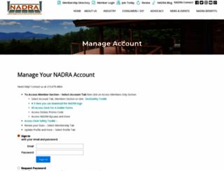 members.nadra.org screenshot
