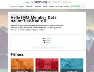 members.travelstrong.net screenshot