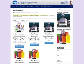 members.wpacademy.com screenshot