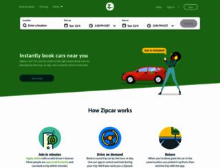 members.zipcar.ca screenshot