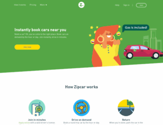 members.zipcar.co.uk screenshot