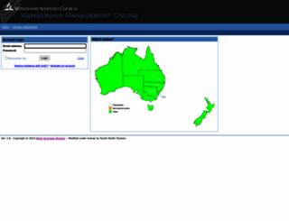 membership.adventist.org.au screenshot
