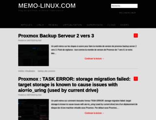 memo-linux.com screenshot