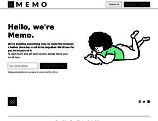 memo.com screenshot