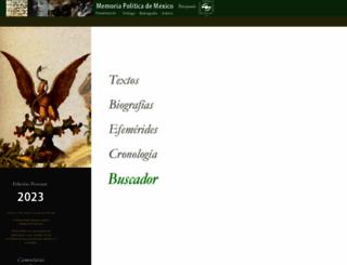 memoriapoliticademexico.org screenshot