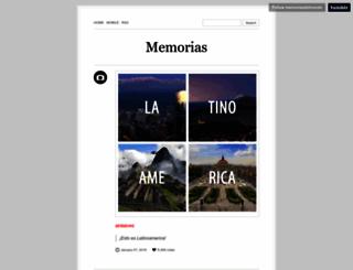 memoriasdelmundo.tumblr.com screenshot