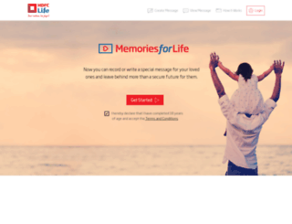 memories.hdfclife.com screenshot